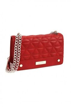 Red cross body bag, made of pu leather, with decorative details, distinctive texture and chain. Comes with protective dust bag. Red Cross, Pu Leather, Dust Bag, Addiction, Fall Winter, Crossbody Bag, Chain, Bags, Collection