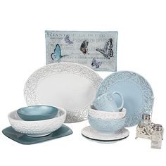 Jessica McClintock Home® Heather Glen Collection Dinnerware. Bought this collection in all white today for my daughter♥