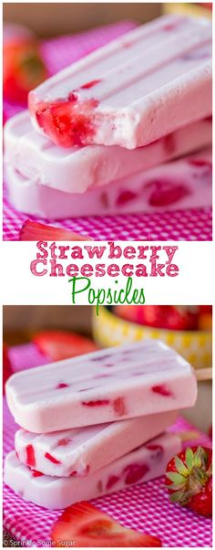 Strawberry Cheesecake Popsicles. These tasty portable treats are so creamy, fresh and flavorful with the addition of Carnation Breakfast Essentials®!
