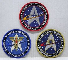 Star Trek STARFLEET UFP Logo 4 Embroidered Patch Set of 3 ** Check out this great product.
