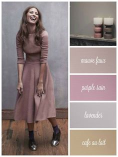 Beautiful colour mood board made by Autentico Pant Polska.