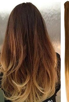 Brown to Carmel ombre