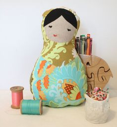 Marzena Matryoshka Plush Nesting Doll. $22.00, via Etsy.-little girl nursery