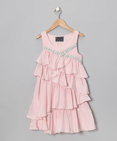 Look what I found on #zulily! Pink Ruffle Dress - Girls #zulilyfinds