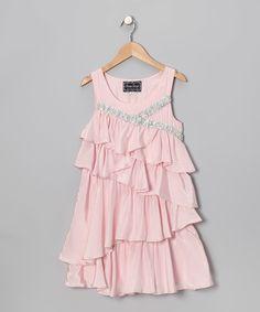Look what I found on #zulily! Pink Ruffle Dress - Girls #zulilyfinds