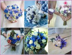 Wedding bouquet of cornflowers - what could be better for a modest, soft and stylish bride? The celebration will become bright and unusual view of the use of such Wedding Preparation, Bride Bouquets, Boutonnieres, Flower Photos, Daisy, Floral Wreath, Wreaths, Table Decorations, Flowers