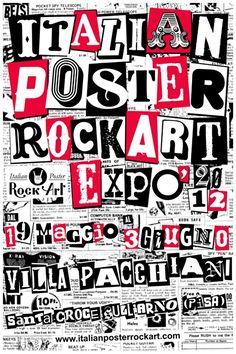 Riccardo Bucchioni Italian Posters, Rock Art, Typography, Hobbies, Punk, Spaces, Image, Beige, Letterpress Printing