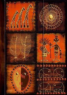 Präsent #Notizbuch Motiv AfricanArt - #Mosaik