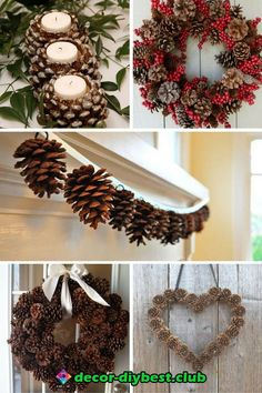 Building And Installing Diy Concrete Countertops Easy Pine Cone ProjectsChristmas Pine Cone Crafts Ideas - DIY Pinecone Decor Ideas for Winter SeasonGet ready for the holiday season with some festive pine cone craft inspiration. Pine Cone Art, Pine Cone Crafts, Christmas Projects, Holiday Crafts, Christmas Wreaths, Christmas Crafts, Christmas Decorations Pinecones, Christmas Tree, Diy And Crafts Sewing