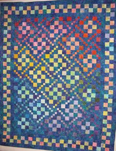 This is the second quilt Donna Hanley made as part of Quiltmaker Magazine's Scrap Squad. Ladder of Success designed by Judy Martin. Pattern in QM's May/June '12 issue.