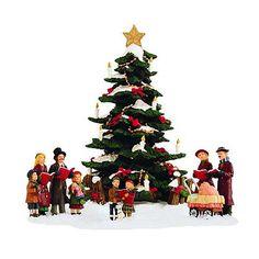 St. Nicholas Square Village Collection Caroling Around The Tree