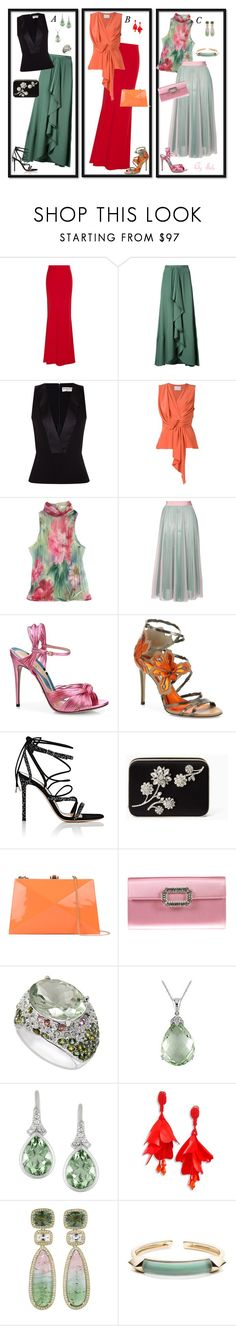 """Summer Style : A, B or C ?"" by selene-cinzia ❤ liked on Polyvore featuring Alexander McQueen, Tome, Balenciaga, Jason Wu, ESCADA, MSGM, Gucci, Jimmy Choo, Gianvito Rossi and Kate Spade"