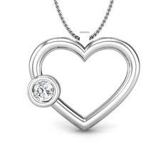 Lotus Heart Diamond Earring