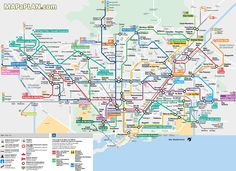 metro subway tube stations visitors map with major streets overlay barcelona top tourist attractions map