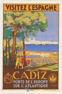 Cádiz, porte de l'Europe sur l'Atlantique, 1929.