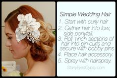 DIY Wedding Hair: Simple Elegance - starryeyedgypsy.com