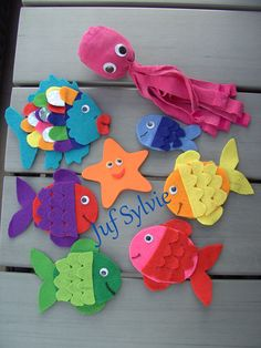 Finger puppets the most beautiful fish of the sea, Finger puppets the most beautiful fish of the sea. The Ocean, Felt Crafts, Paper Crafts, Beautiful Fish, Beautiful Pictures, Rainbow Fish, Under The Sea Party, Diy Blog, Crafts For Kids To Make