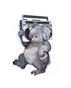 koala Art Print                                                       …