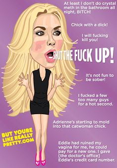 But You Like Really Say Some Crazy Sh!t, Brandi Glanville. Brandi Glanville, Cartoon Gifs, Real Housewives, Sober, Reality Tv, Catwoman, Aurora Sleeping Beauty, At Least, Caricatures