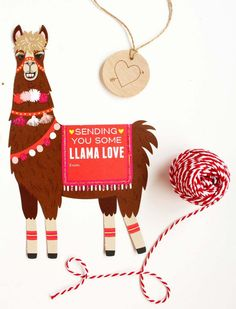 DIY Valentines: Llama Love Valentines Kit