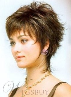 New Fashion Trend Carefree Short Straight Wig 100% Human Hair 6 Inches