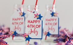 """Join 6 people right now at """"Project: 4th of July Drink Tags"""" #crafts #entertainment"""