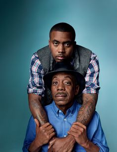 GAP Ads Fatherly Love - rapper Nas & his father, blues musician Olu Dara. Black Fathers, Fathers Love, Father And Son, Black Love, Black Is Beautiful, Black Men, Black Families, Hip Hop Artists, Hip Hop Rap