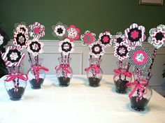 Baby shower centerpieces.