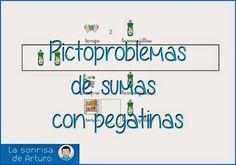 La sonrisa de Arturo: Pictoproblemas de sumas con pegatinas. Pictosumamos en el supermercado Personal Care, Math, Logos, Children, Carrera, Ideas Para, Tea, Children With Autism, Addition And Subtraction