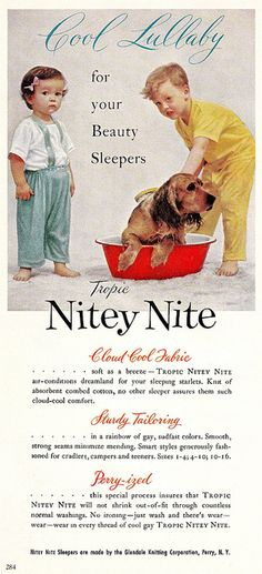 """Little """"Beauty Sleepers"""" , originally uploaded by saltycotton . """"Good Housekeeping"""", April """"Cool Lullaby For your Beauty Sleepers . Advertising And Promotion, Retro Advertising, Retro Ads, Vintage Advertisements, Vintage Ads, Vintage Prints, Vintage Posters, Vintage Photos, Vintage Ephemera"""