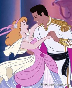 Cinderella and Prince Charming Disney Fan Art, Disney Pixar, Walt Disney, Disney Characters, Disney Princesses, Disney Princess Drawings, Disney Princess Pictures, Disney Couples, Disney Family
