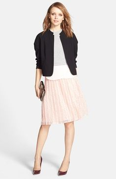 Chelsea28 Pleated Lace Skirt | Nordstrom