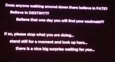 Destiny?