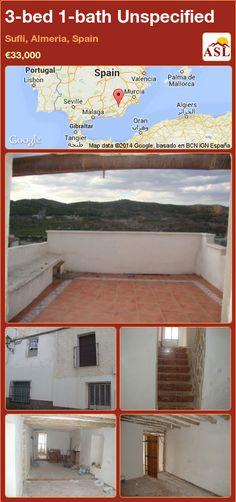 Unspecified for Sale in Sufli, Almeria, Spain with 3 bedrooms, 1 bathroom - A Spanish Life Murcia, Valencia, Portugal, Second Floor, Restoration, Garage Doors, Flooring, Bathroom, Bed
