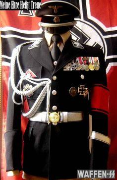 SS uniforme gala para oficiales posteriormente utilizado por las Allgemeine-SS