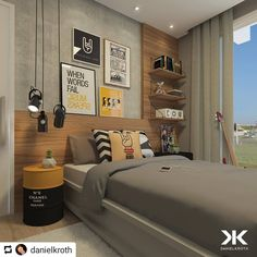 55 Modern And Stylish Young Boys Room Designs – Dream bedroom Home Office Bedroom, Boys Bedroom Decor, Small Room Bedroom, Dream Bedroom, Boy Bedrooms, Bedroom Furniture, Boys Room Design, Kids Bedroom Designs, Teenage Room