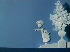 adorable french papercut animation by michel ocelot, 1980. so many doilies! love love love