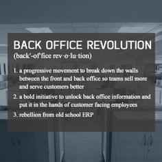 What is the back office revolution? #DF13 #Dreamforce