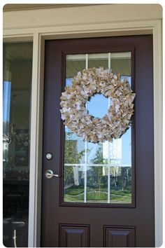 A rag wreath- such a nice way to use up favorite fabric.