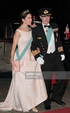 Crown Princess Mary arrives at Amalienborg Palace for a dinner in honor of Turkish President Abdullah Gul and his wife Hayrunnisa Gul given by Queen Margrethe II and her husband Prince Henrik in Copenhagen, Denmark on March 17, 2014.