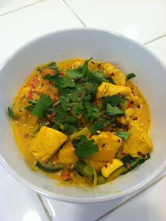 Lilys Paleo MomPineapple Chicken Curry with Zucchini Noodles