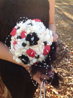 Alternative Bouquet Fuchsia Pink Black Wedding By BeachBasketBride 20000