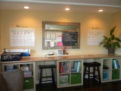Our chalkwalls and dryerase vinyls are great in a homeschool area. http://heidic.uppercaseliving.net/Category.m?CategoryId=356&DesignId=&ItemId=&Keyword=chalkwall&CurrentPage=1