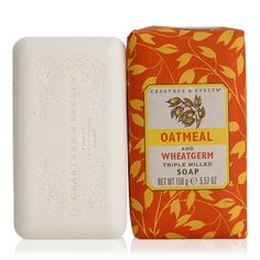 We use a traditional soap making technique to harness the conditioning properties of oatmeal and wheat germ for this vegetable-based soap. Then we blend in shea and cocoa butters, evening primrose oil, and coarsely milled oat flour.