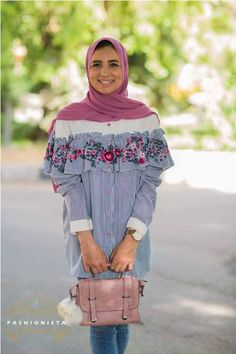 Off the shoulder blouse hijab-Fashion casual wear for veiled girls – Just Trendy Girls