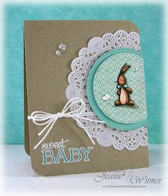 The Spotted Chick: Sweet Baby!!, Baby Shower, Stampin Up Baby We've Grown, Handmade Card