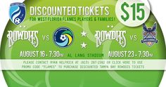 Discounted Tickets for Rowdies Games