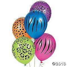 Latex Neon Animal Print Balloons