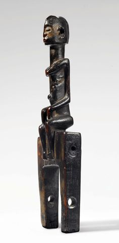 Africa | Heddle pulley from the Dogon people of Mali | Wood | ca. 1963 or earlier