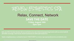 Join our SPA-Tacular Series! All are invited to try out a host of pampering treats such as neck, back&shoulder massage, mini facial, hand treatments&mini nail makeover. Enjoy complimentary cocktails&more! MUST RSVP at :  http://www.eventbrite.com/e/spa-tacular-series-presented-by-renew-esthetics-medi-spa-tickets-18031591977 Please contact us. Our specialists will assist you giving you the best options to cure your inconvenience. Please call us for free consultation at: 718 204 0458